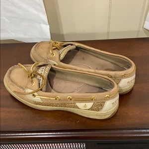 Gold/Tan Sperry's